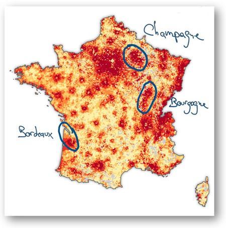 Carte des revenusen France par commune